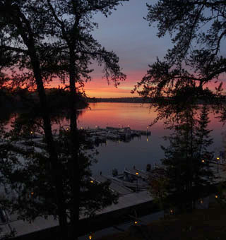 Beautiful Sunset from Cottage Deck ...